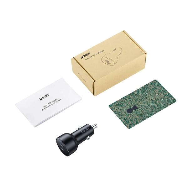 AUKEY CC-Y10 USB C PD Araç Şarj Cihazı