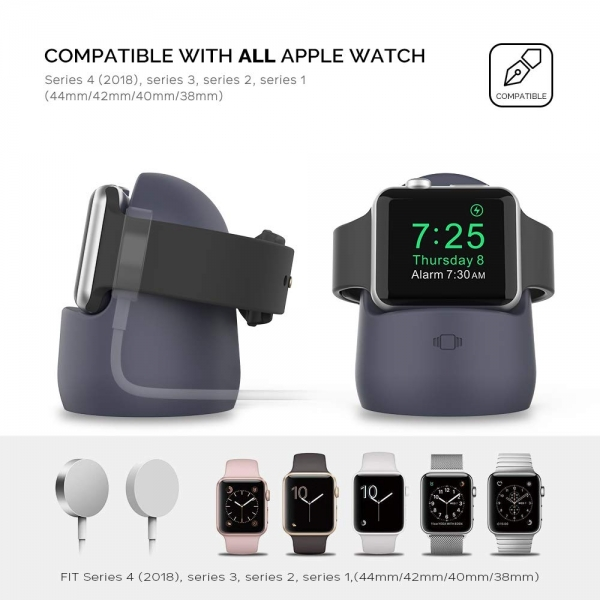 AhaStyle Apple Watch Silikon Şarj Standı-Dark Blue