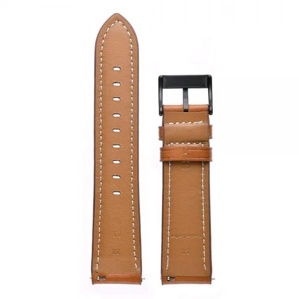Aresh Samsung Galaxy Watch Deri Kayış (42mm)-Brown