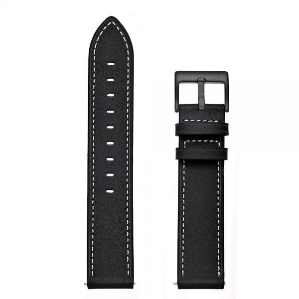 Aresh Samsung Galaxy Watch Deri Kayış (42mm)-Black