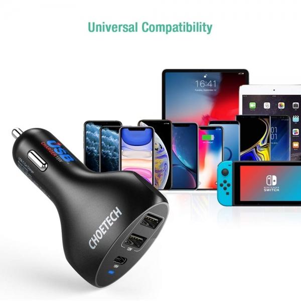 CHOETECH USB C Araç Şarj Cihazı