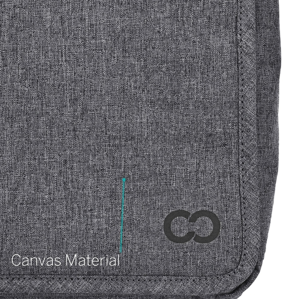 CaseCrown MacBook Air Kanvas Omuz Çantası (13 inç)-Charcoal gray