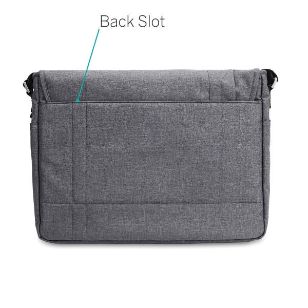 CaseCrown MacBook Kanvas Omuz Çantası (15 inç)-Charcoal Gray