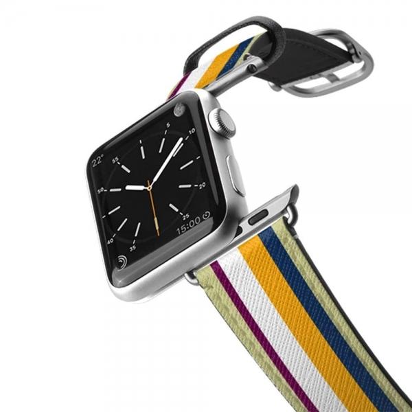 Casetify Apple Watch Kayış (42mm)-Colorful Stripe