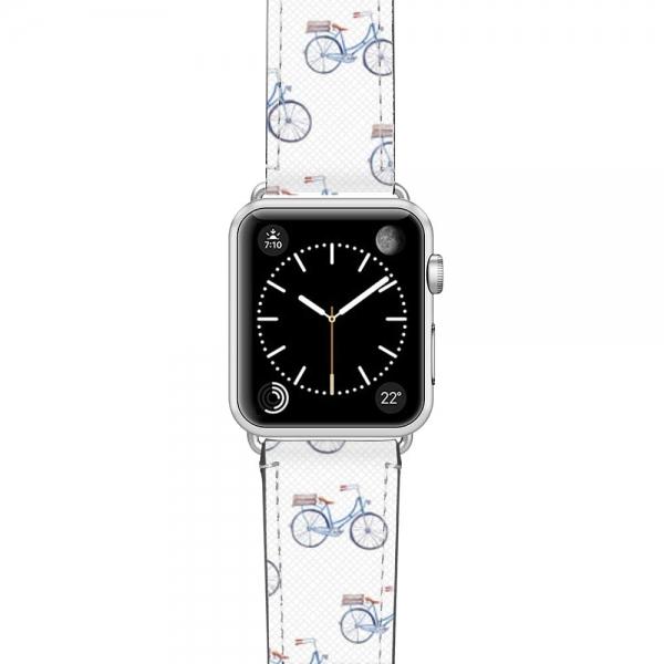 Casetify Apple Watch Kayış (42mm)-Pastel Blue Bicycle