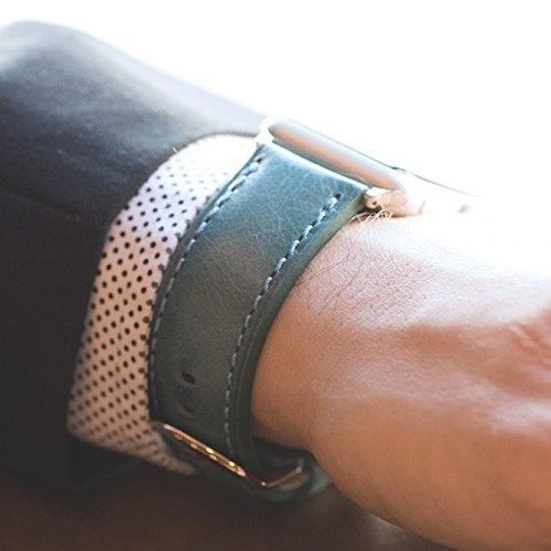Clockwork Synergy Apple Watch Deri Kayış (42mm)-Blue Washed