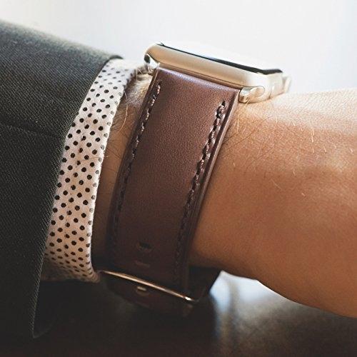 Clockwork Synergy Apple Watch Deri Kayış (42mm)-Brown Aged