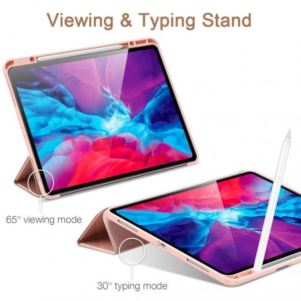 ESR iPad Pro Kalem Bölmeli Kılıf (12.9 inç)(4. Nesil)-Pink