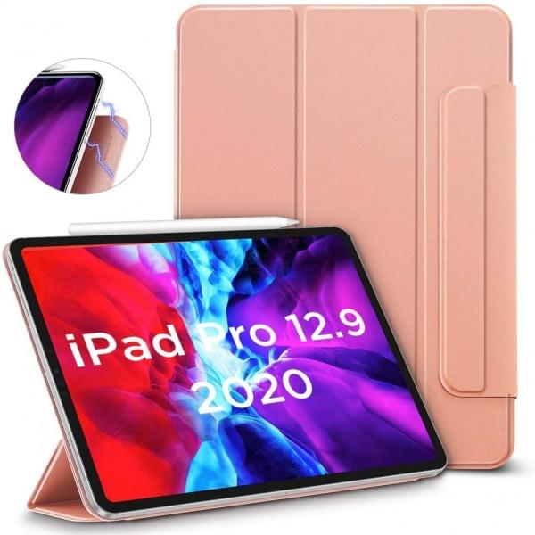 ESR iPad Pro Rebound Manyetik Akıllı Kılıf (12.9 inç)(4. Nesil)-Rose Gold