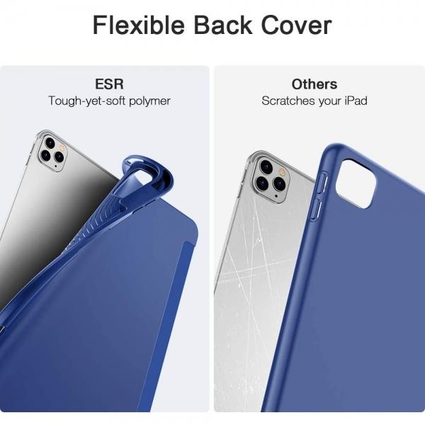 ESR iPad Pro Kalem Bölmeli Kılıf (12.9 inç)(4. Nesil)-Blue