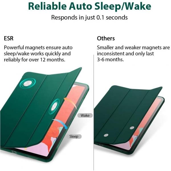 ESR iPad Pro Rebound İnce Kılıf (11 inç)(2. Nesil)-Dark Green