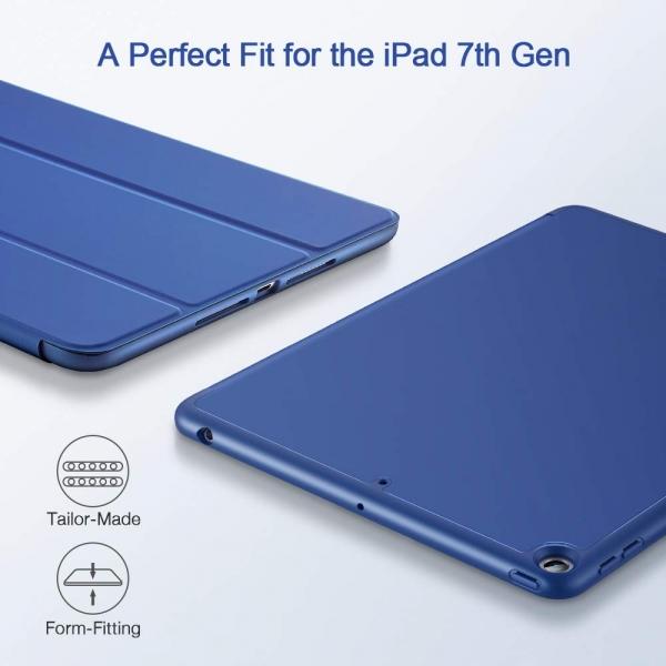 ESR iPad Kalem Bölmeli Kılıf (10.2 inç)(7. Nesil)-Blue
