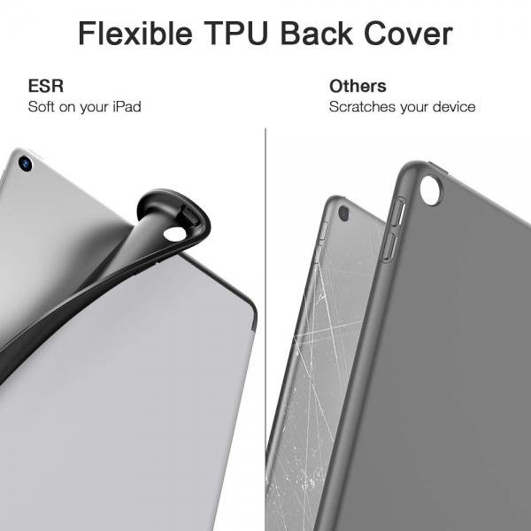 ESR iPad Kalem Bölmeli Kılıf (10.2 inç)(7. Nesil)-Gray