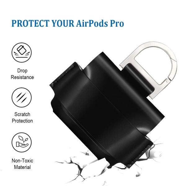 EloBeth AirPods Pro Deri Kılıf-Black