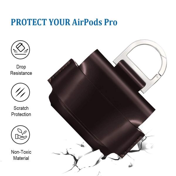 EloBeth AirPods Pro Deri Kılıf-Brown