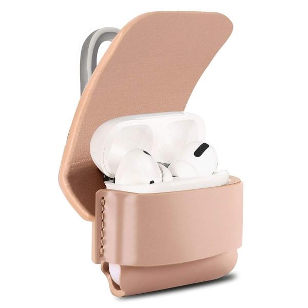 EloBeth AirPods Pro Deri Kılıf-Pink