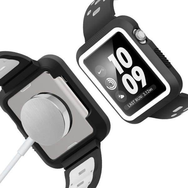 EloBeth Apple Watch Kılıf Kayış (42mm)-Black-Grey