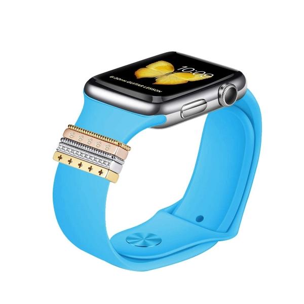 Elobeth Apple Watch Metal Tokalı Kayış (38/40mm)-Blue