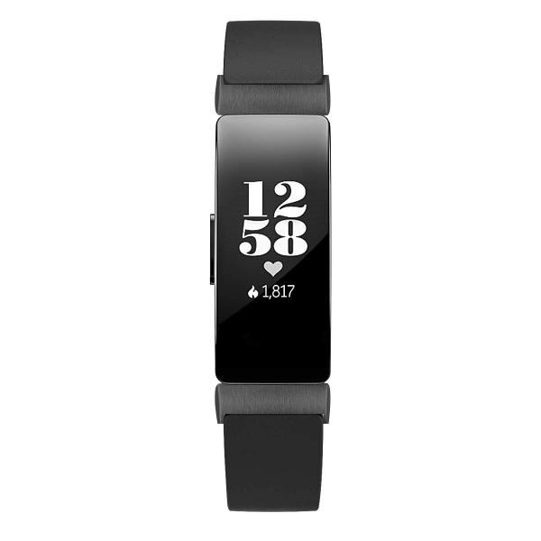 Elobeth Fitbit Inspire HR Deri Kayış (Large)-Black