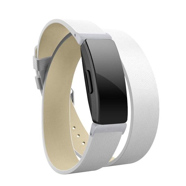 Elobeth Fitbit Inspire HR Deri Kayış (Small)-White