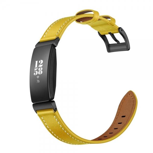 Elobeth Fitbit Inspire HR Deri Kayış-Yellow