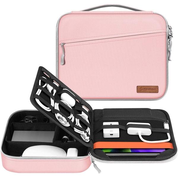 FINPAC Elektronik Aksesuar ve Tablet Çantası (11 inç)-Pink
