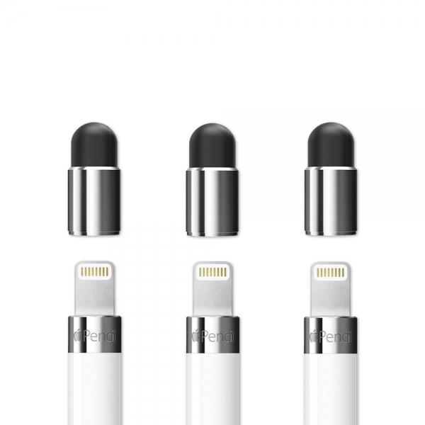 FRTMA Apple Kalem İçin Yedek Stylus Kapak (3 Adet)-Silver