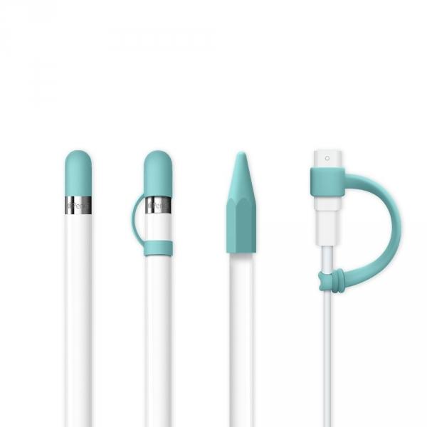 FRTMA Apple Pencil Kapak (4 Adet)-Ice Sea Blue