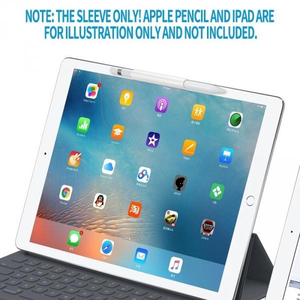 FRTMA Apple Pencil Manyetik Silikon Kılıf-Ivory White