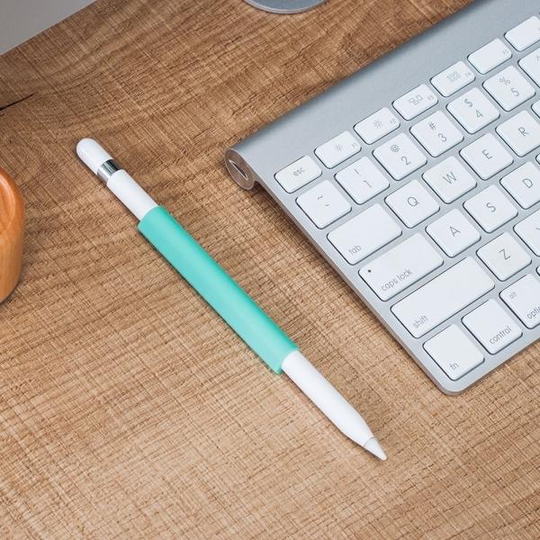 FRTMA Apple Pencil Manyetik Silikon Kılıf-Ice Sea Blue