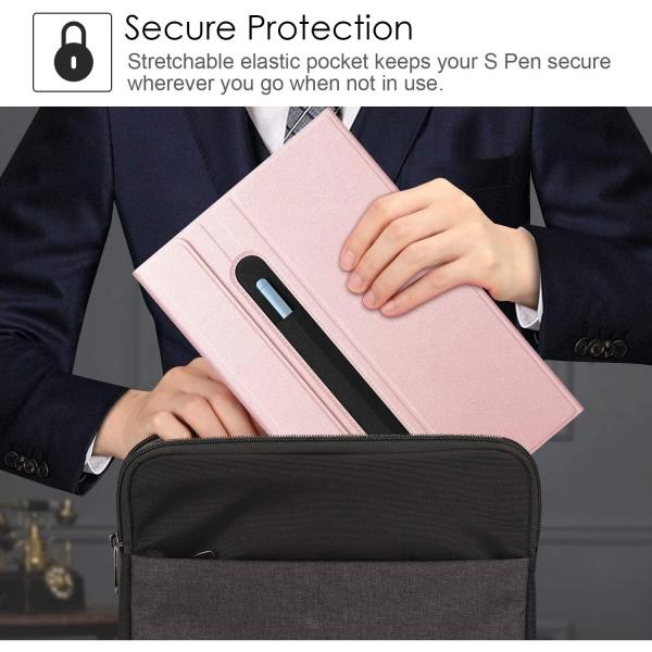 Fintie Galaxy Tab S6 Lite Klavyeli Kılıf (10.4 inç)-Pink