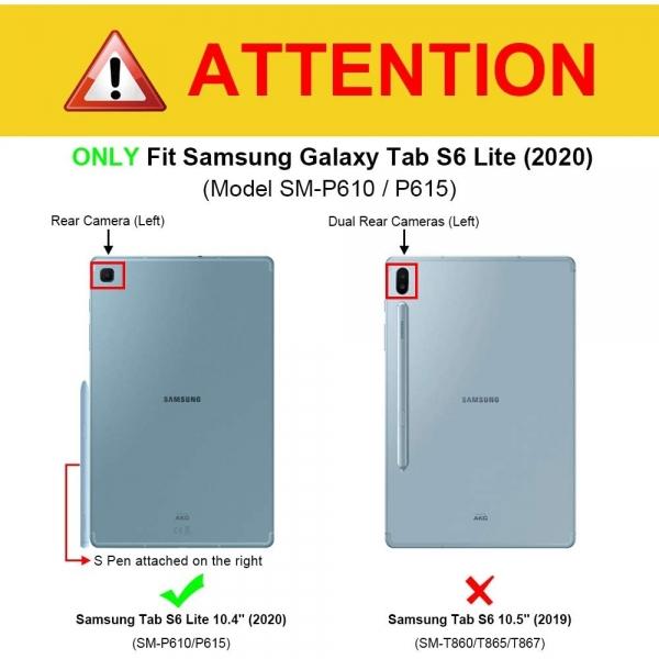 Fintie Galaxy Tab S6 Lite Klavyeli Kılıf (10.4 inç)-Purple