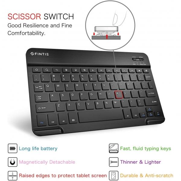 Fintie Samsung Galaxy Tab S6 Klavyeli Kılıf (10.5 inç)-Blossom