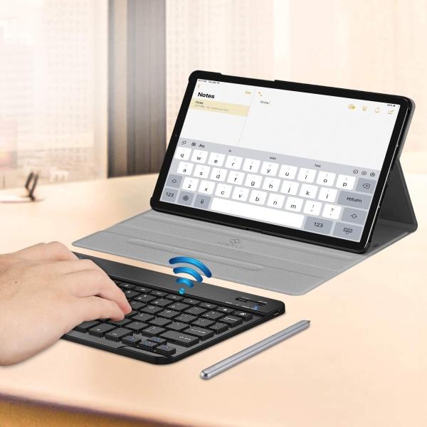 Fintie Samsung Galaxy Tab S6 Klavyeli Kılıf (10.5 inç)-Black