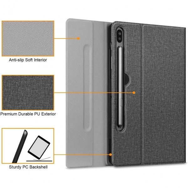 Fintie Samsung Galaxy Tab S6 Klavyeli Kılıf (10.5 inç)-Grey