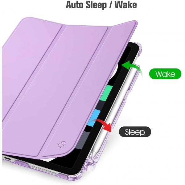 Fintie iPad Air 4 Kalem Bölmeli Kılıf (10.9 inç)-Purple