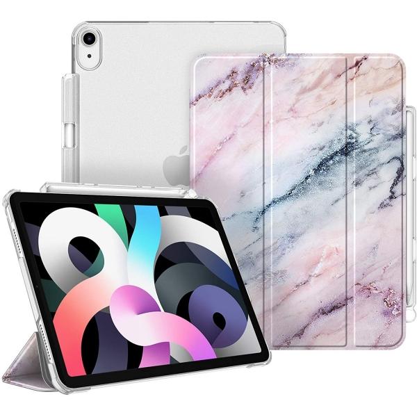 Fintie iPad Air 4 Kalem Bölmeli Kılıf (10.9 inç)-Z-Marble Pink