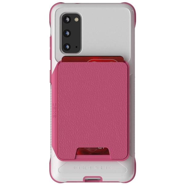 Ghostek Galaxy S20 Exec Manyetik Cüzdan Kılıf (MIL-STD-810G)-Pink