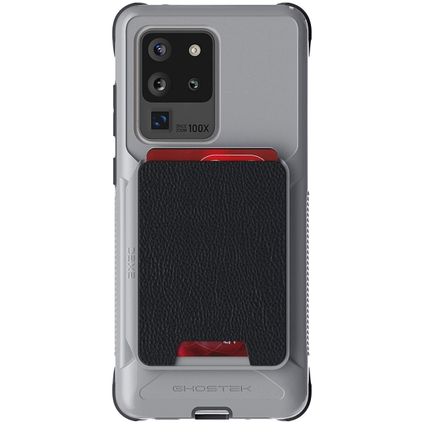 Ghostek Galaxy S20 Ultra Exec Manyetik Cüzdan Kılıf (MIL-STD-810G)-Silver