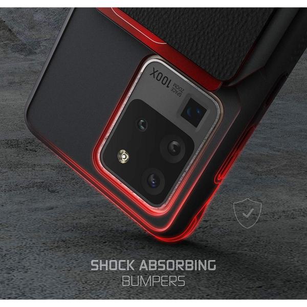 Ghostek Galaxy S20 Ultra Exec Manyetik Cüzdan Kılıf (MIL-STD-810G)-Black