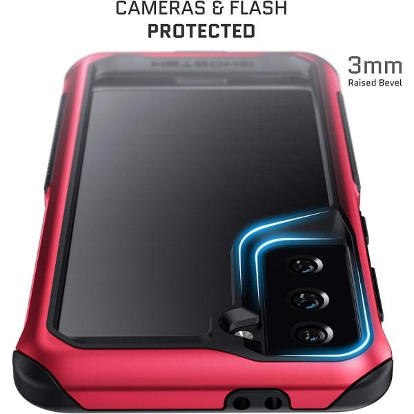 Ghostek Galaxy S21 Ultra Atomic Slim Serisi Kılıf (MIL-STD-810G)-Red