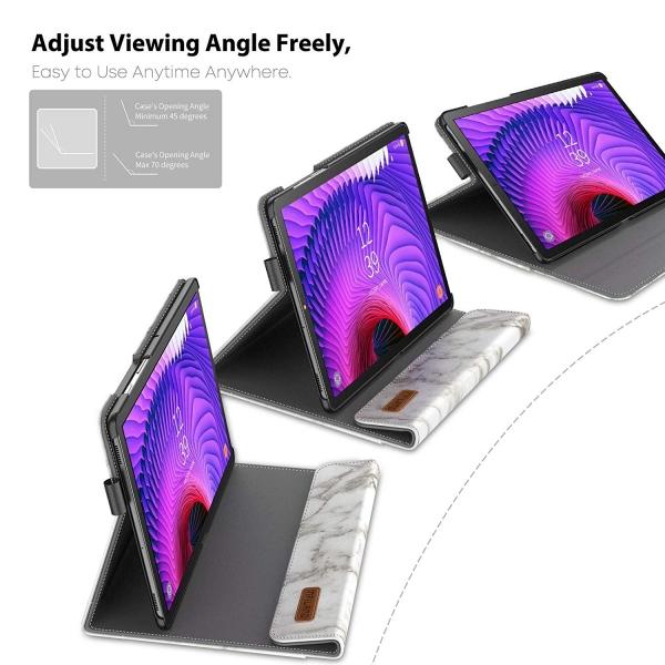 Infiland Galaxy Tab S5e Kalem Bölmeli Kılıf-Marble