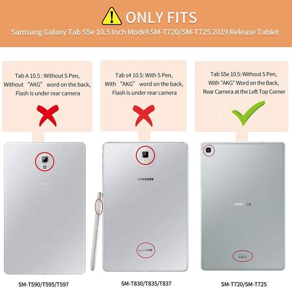 Infiland Galaxy Tab S5e Kalem Bölmeli Kılıf-Red