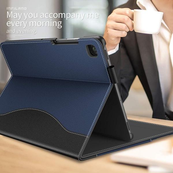 Infiland Galaxy Tab S5e Kalem Bölmeli Kılıf-Navy