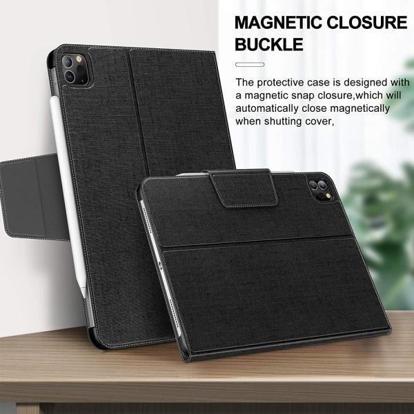 Infiland iPad Pro Standlı Kılıf (12.9 inç)(4.Nesil)-Black
