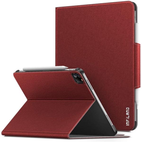 Infiland iPad Pro Standlı Kılıf (12.9 inç)(4.Nesil)-Red