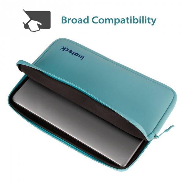 Inateck 15-15.6 inç Suya Dayanıklı Neopren Laptop Çantası-Teal