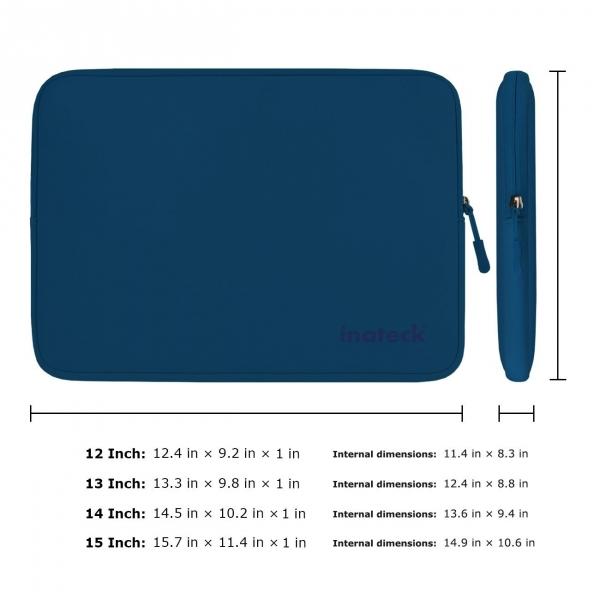 Inateck 15-15.6 inç Suya Dayanıklı Neopren Laptop Çantası-Blue