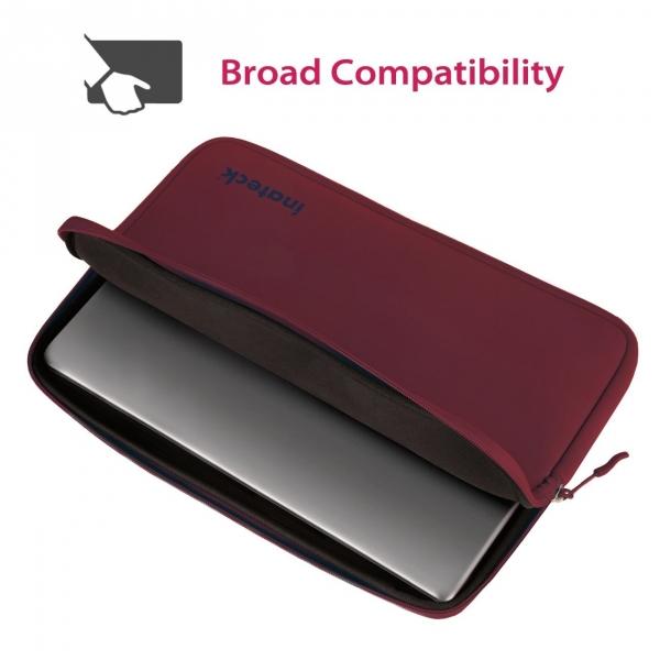 Inateck 15-15.6 inç Suya Dayanıklı Neopren Laptop Çantası-Wine Red