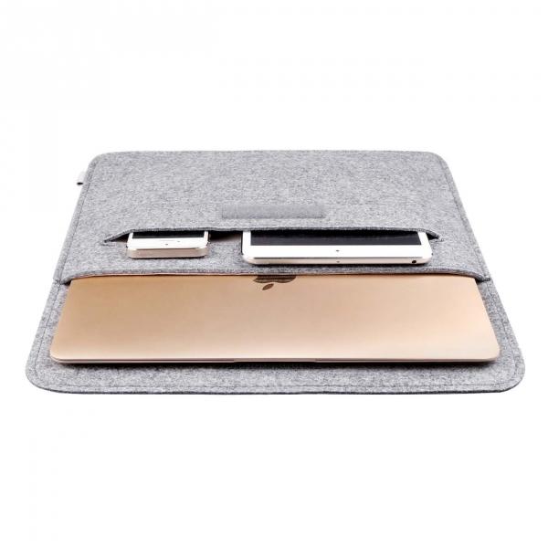Inateck Macbook Air / Macbook Pro Sleeve Çanta (13-13.3 inç)-Light Gray